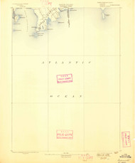 Sakonett, Rhode Island 1893 (1898) USGS Old Topo Map 15x15 Quad