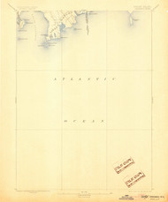 Sakonett, Rhode Island 1893 (1905) USGS Old Topo Map 15x15 Quad