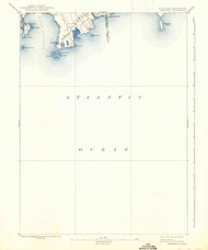 Sakonett, Rhode Island 1893 (1938) USGS Old Topo Map 15x15 Quad