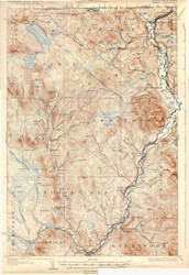 Averill, VT 1928 USGS Old Topo Map 15x15 Quad