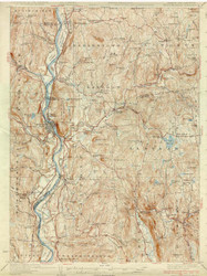 Bellows Falls, VT 1930 USGS Old Topo Map 15x15 Quad
