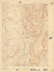 Berlin, VT 1898 USGS Old Topo Map 15x15 Quad