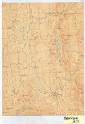 Brandon, VT 1904 USGS Old Topo Map 15x15 Quad