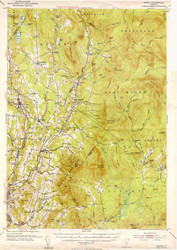 Burke, VT 1951 USGS Old Topo Map 15x15 Quad