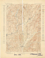 Cambridge, VT 1898 USGS Old Topo Map 15x15 Quad