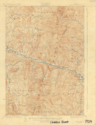 Camels Hump, VT 1924 USGS Old Topo Map 15x15 Quad