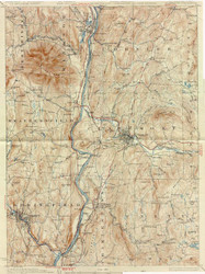 Claremont, VT 1929 USGS Old Topo Map 15x15 Quad