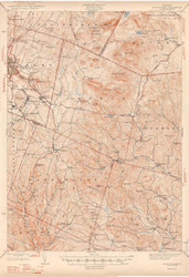 East Barre, VT 1948 USGS Old Topo Map 15x15 Quad