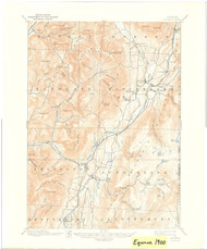 Equinox, VT 1900-1941 USGS Old Topo Map 15x15 Quad