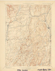 Fort Ann, VT 1901 USGS Old Topo Map 15x15 Quad