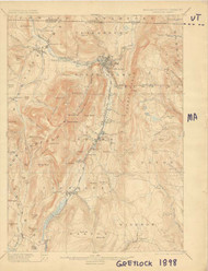 Greylock, VT 1898 USGS Old Topo Map 15x15 Quad