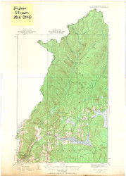 Indian Stream, VT 1926 USGS Old Topo Map 15x15 Quad
