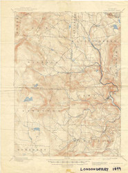 Londonderry, VT 1899 USGS Old Topo Map 15x15 Quad