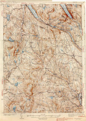 Lyndonville, VT 1939 USGS Old Topo Map 15x15 Quad