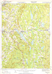 Mascoma, VT 1927 USGS Old Topo Map 15x15 Quad