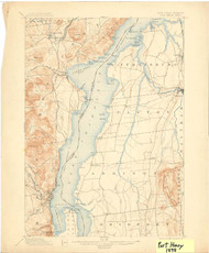 Port Henry, VT 1898 USGS Old Topo Map 15x15 Quad