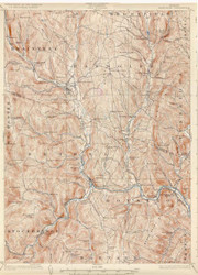 Randolph, VT 1926 USGS Old Topo Map 15x15 Quad