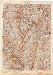 Saxtons River, VT 1933 USGS Old Topo Map 15x15 Quad