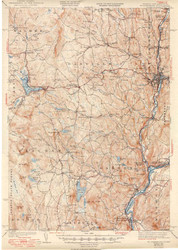 St. Johnsbury, VT 1943 USGS Old Topo Map 15x15 Quad