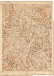 Strafford, VT 1896 USGS Old Topo Map 15x15 Quad