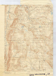 Wallingford, VT 1893 USGS Old Topo Map 15x15 Quad
