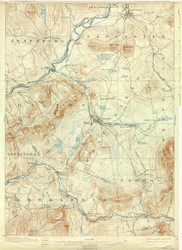 Whitefield, VT 1900 USGS Old Topo Map 15x15 Quad