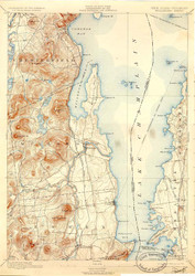 Willsboro, VT 1895-1924 USGS Old Topo Map 15x15 Quad