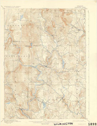 Wilmington, VT 1899 USGS Old Topo Map 15x15 Quad