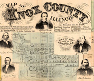 Title of Source Map -  Knox Co., Illinois 1861 Old Town Map Custom Print - Knox Co.