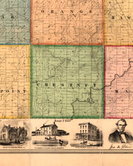Chestnut, Illinois 1861 Old Town Map Custom Print - Knox Co.