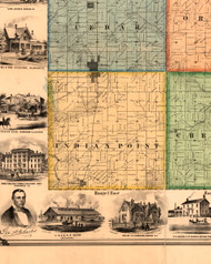 Indian Point, Illinois 1861 Old Town Map Custom Print - Knox Co.