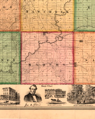 Maquon, Illinois 1861 Old Town Map Custom Print - Knox Co.