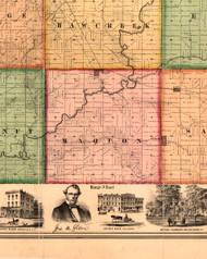 Maquon, Illinois 1861 Old Town Map Custom Print - Knox Co.