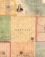 Ontario, Illinois 1861 Old Town Map Custom Print - Knox Co.