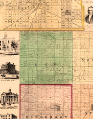 Rio, Illinois 1861 Old Town Map Custom Print - Knox Co.