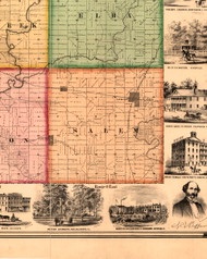 Salem, Illinois 1861 Old Town Map Custom Print - Knox Co.