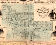 Knoxville - Knox Co., Illinois 1861 Old Town Map Custom Print - Knox Co.