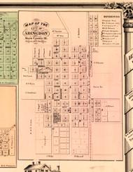 Abingdon - Knox Co., Illinois 1861 Old Town Map Custom Print - Knox Co.