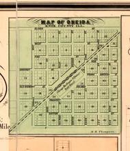 Oneida - Knox Co., Illinois 1861 Old Town Map Custom Print - Knox Co.