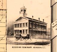 Hedding Seminary - Knox Co., Illinois 1861 Old Town Map Custom Print - Knox Co.