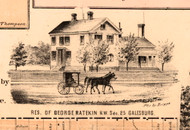 Res. of George Ratekin - Knox Co., Illinois 1861 Old Town Map Custom Print - Knox Co.