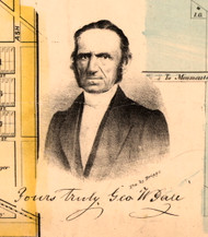 Portrait of George W. Gale - Knox Co., Illinois 1861 Old Town Map Custom Print - Knox Co.
