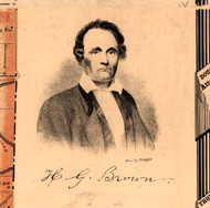 Portrait of H.G. Brown - Knox Co., Illinois 1861 Old Town Map Custom Print - Knox Co.