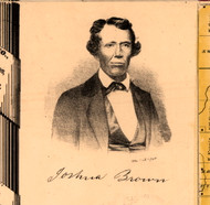 Portrait of Joshua Brown - Knox Co., Illinois 1861 Old Town Map Custom Print - Knox Co.