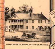 Hebard House, P.D. Rogers Prop. - Knox Co., Illinois 1861 Old Town Map Custom Print - Knox Co.