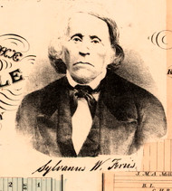 Portrait of Sylvanus W. Feris - Knox Co., Illinois 1861 Old Town Map Custom Print - Knox Co.
