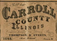 Title of Source Map -  Carroll Co., Illinois 1869 Old Town Map Custom Print - Carroll Co.