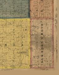 Elkhorn Grove, Illinois 1869 Old Town Map Custom Print - Carroll Co.