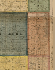 Lima, Illinois 1869 Old Town Map Custom Print - Carroll Co.