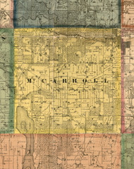 MtCarroll, Illinois 1869 Old Town Map Custom Print - Carroll Co.